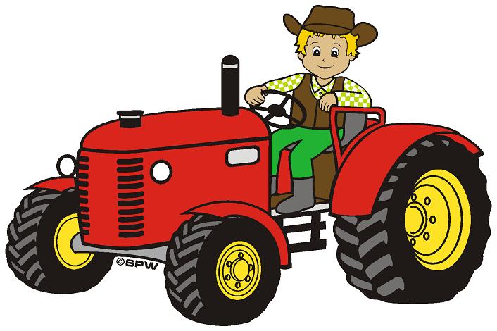 Смешные животные, открытка трактористу