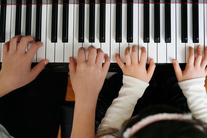Игра на пианино в картинках